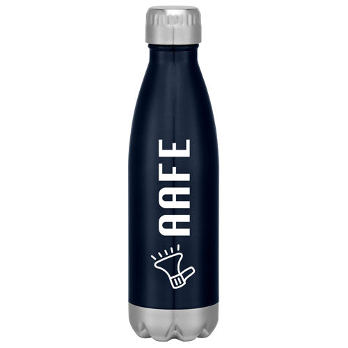 Navy Custom Cola Shaped Stainless Steel Bottle