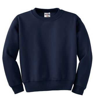 Navy Custom Jerzees Youth Sweatshirt