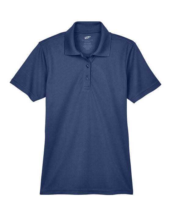 Navy Ladies Dry Wicking Polo With Logo