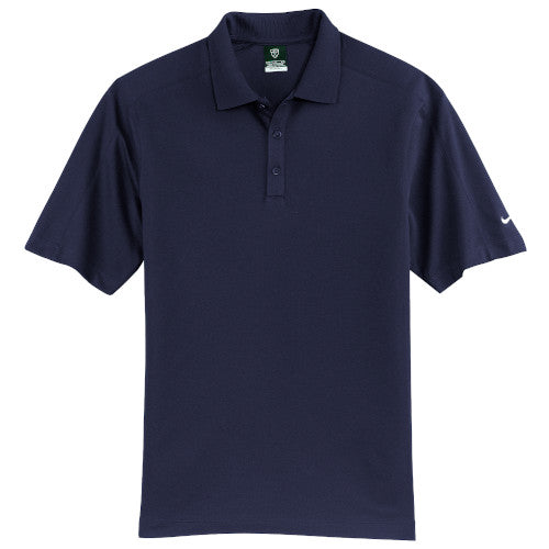Navy Nike Dri-FIT Pique Polo With Logo