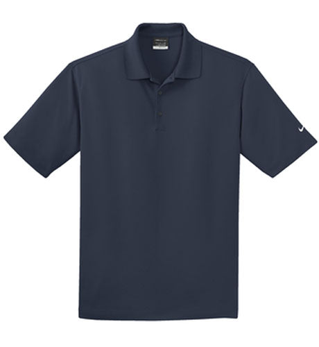 Navy Nike Dri-FIT Micro Pique Polo With Logo