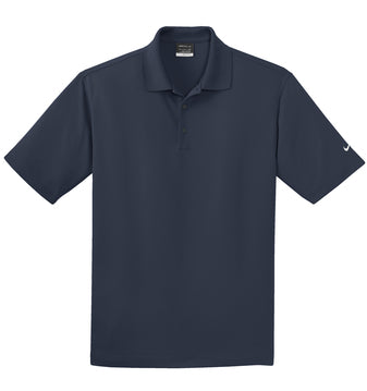 Navy Nike Tall Dri-FIT Micro Pique Polo With Logo