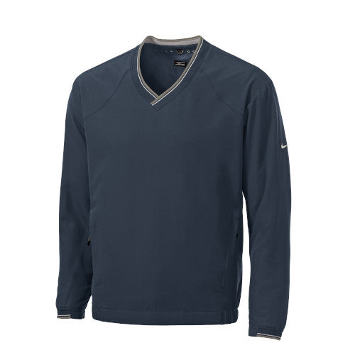 Navy Custom Nike V-Neck Wind Shirt Jacket