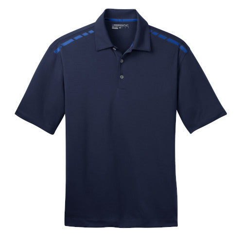 Navy/Signal Blue Nike Dri-FIT Graphic Polo With Logo