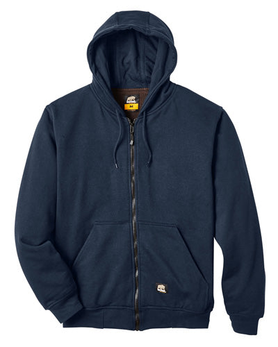 Navy Custom Thermal Lined Full Zip Sweatshirt