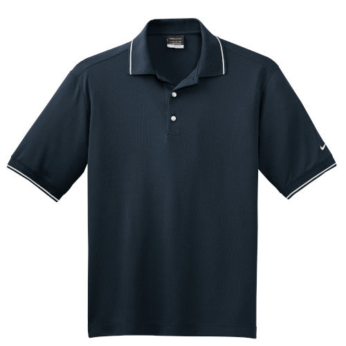 Navy Tipped Nike Dri-FIT Golf Shirt With Logo