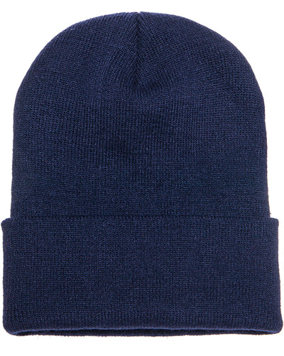 Navy Custom Yupoong Knit Cap