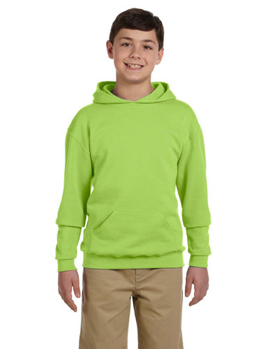 Neon Green Custom Jerzees Youth Hooded Sweatshirt