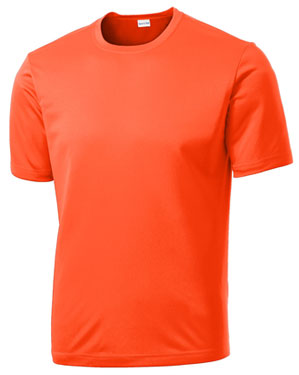 Neon Orange Custom Dry Performance T-Shirt