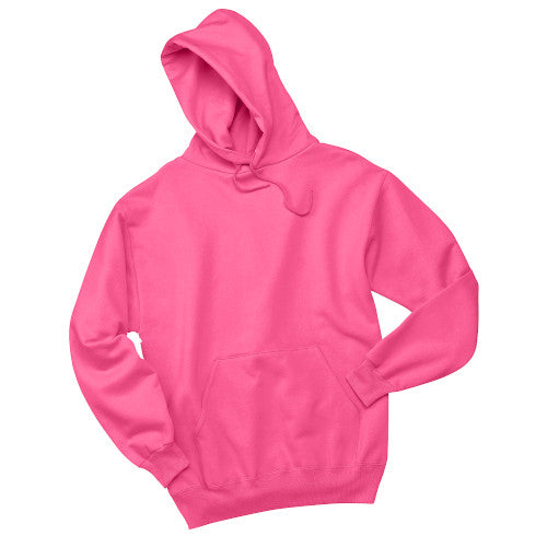 Neon Pink Custom Jerzees Hooded Sweatshirt