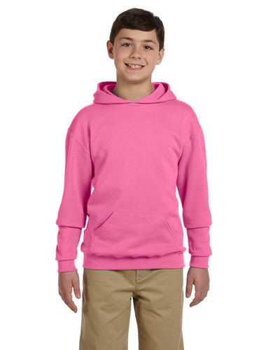 Neon Pink Custom Jerzees Youth Hooded Sweatshirt