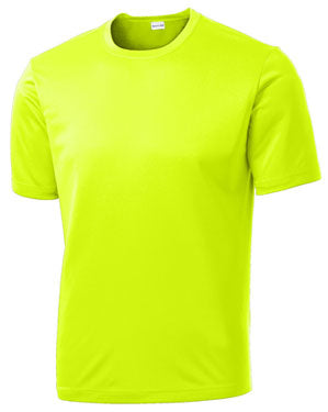 Neon Yellow Custom Dry Performance T-Shirt