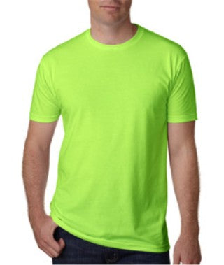 Neon Green Custom Next Level Premium T-Shirt
