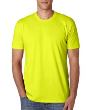 Neon Yellow Custom Next Level Premium T-Shirt