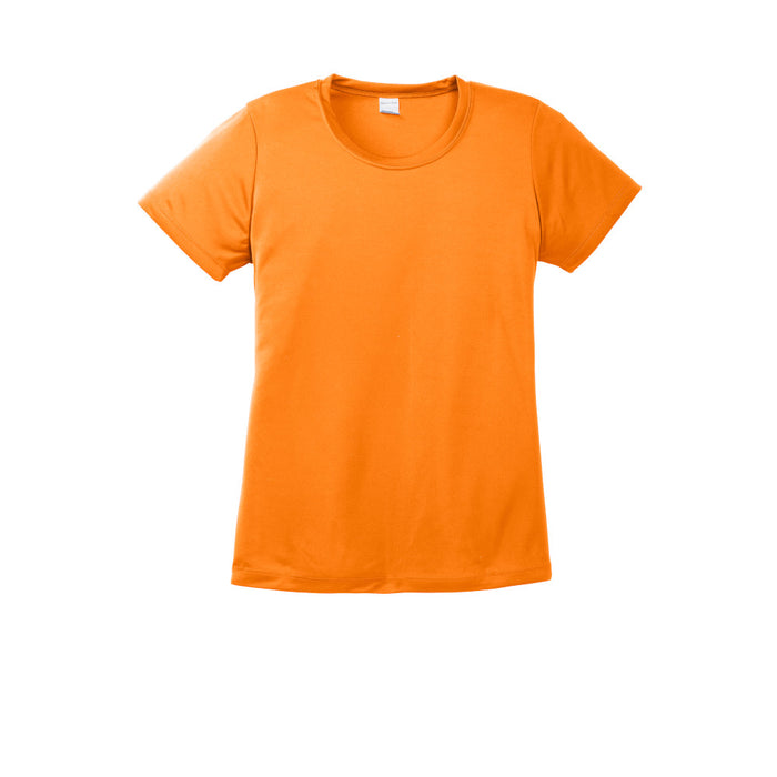 Neon Orange Custom Ladies Dry Performance T-Shirt