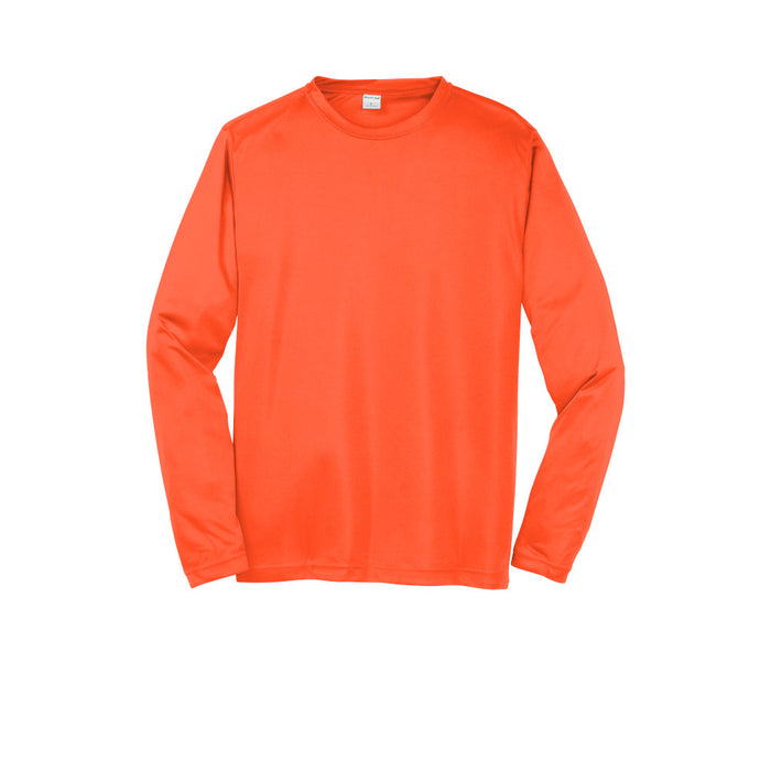 Neon Orange Custom Long Sleeve Dry Performance T-Shirt
