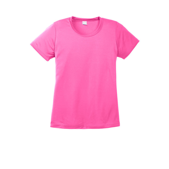 Neon Pink Custom Ladies Dry Performance T-Shirt