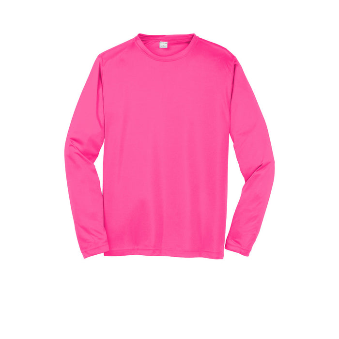 Neon Pink Custom Long Sleeve Dry Performance T-Shirt