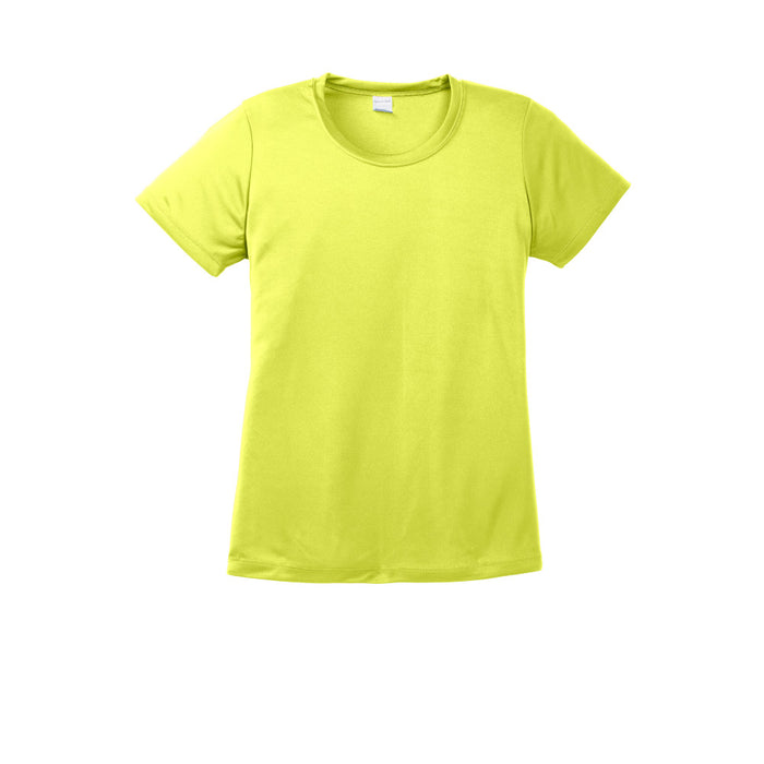 Neon Yellow Custom Ladies Dry Performance T-Shirt