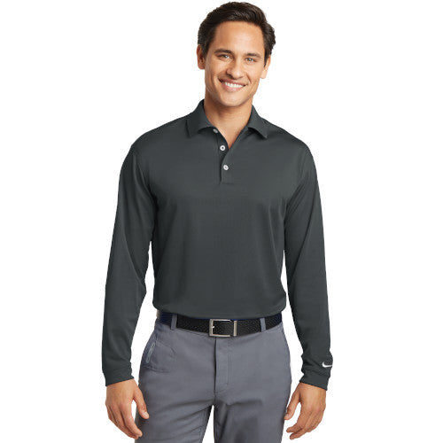 Nike Dri-FIT Long Sleeve Golf Shirt WIth Logo