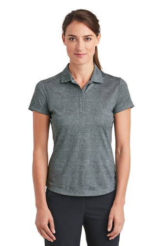 Nike Ladies Dri-FIT Crosshatch Polo With Logo