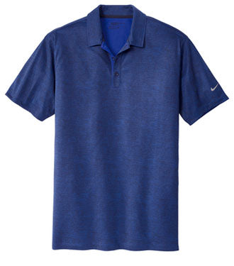 Old Royal/Marine Nike Dri-FIT Crosshatch Polo With Logo
