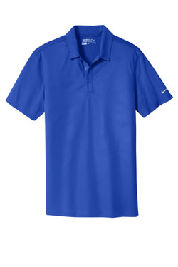 Old Royal Nike Dri-FIT Embossed Tri-Blade Polo With Logo