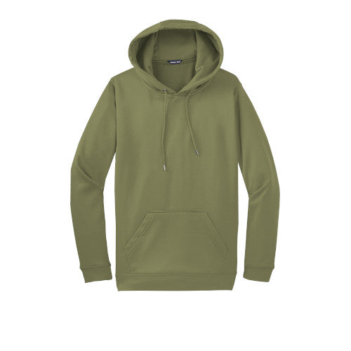 Olive Drab Green Custom Dry Performance Hoodie Sweatshirt