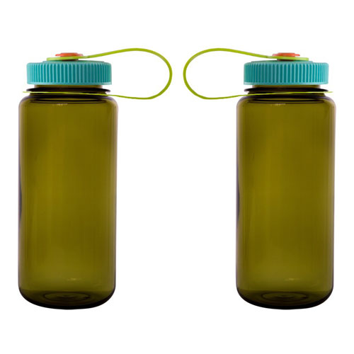 Olive Custom Nalgene 16oz Wide Mouth Bottle