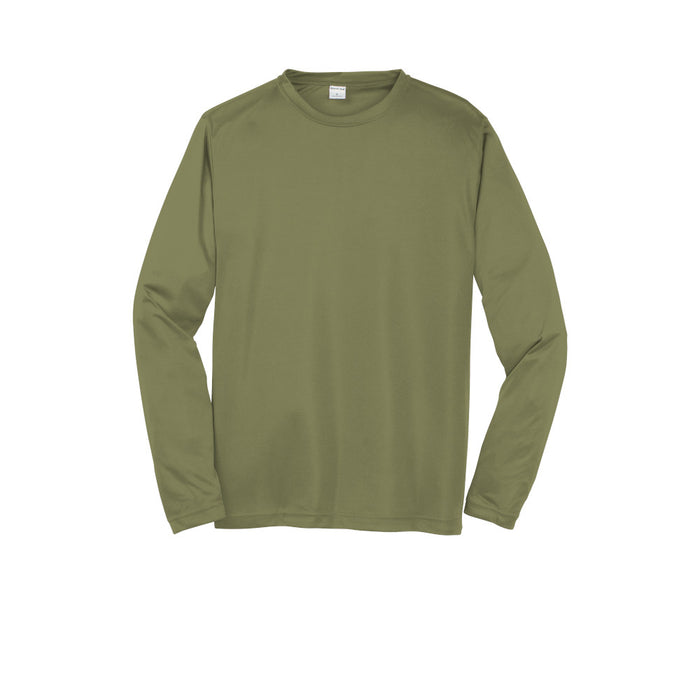 Olive Drab Green Custom Long Sleeve Dry Performance T-Shirt