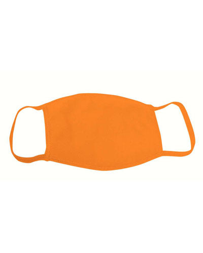 Orange Custom Bayside USA-Made 100% Cotton Face Mask