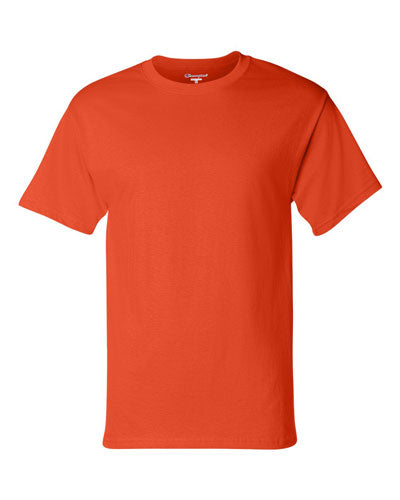 Orange Custom Champion Short Sleeve T-Shirt