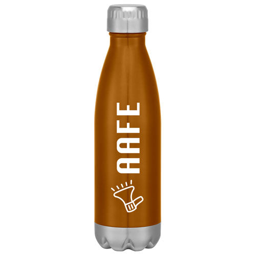 Orange Custom Cola Shaped Stainless Steel Bottle