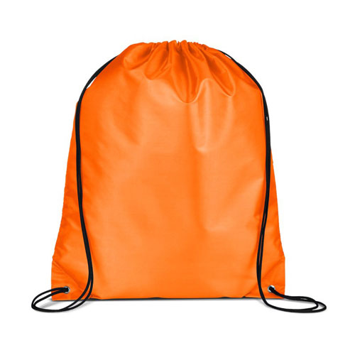 Orange Custom Drawstring Backpack