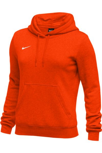 Orange Nike Ladies Hoodie