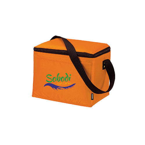 Orange Custom 6 Pack Cooler Bag