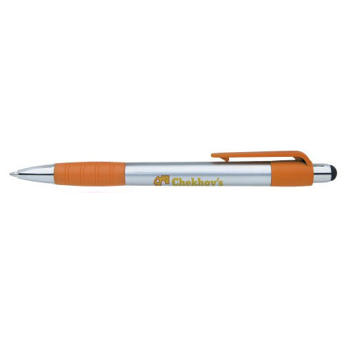 Orange Custom Stylus Ballpoint Pen