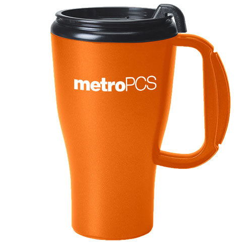 Orange Custom Travel Mug 16oz