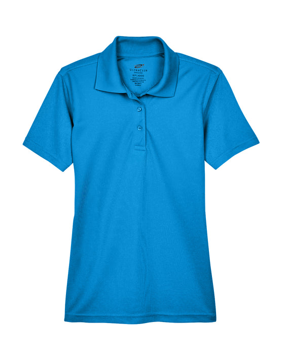 Pacific Blue Ladies Dry Wicking Polo With Logo