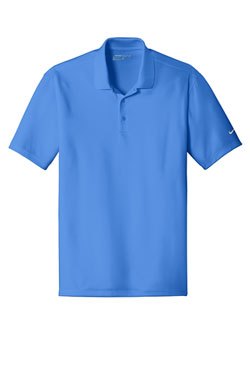 Pacific Blue Nike Dri-FIT Players Polo with Flat Knit Collar With Logo