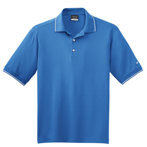 Pacific Blue Tipped Nike Dri-FIT Golf Shirt With Logo
