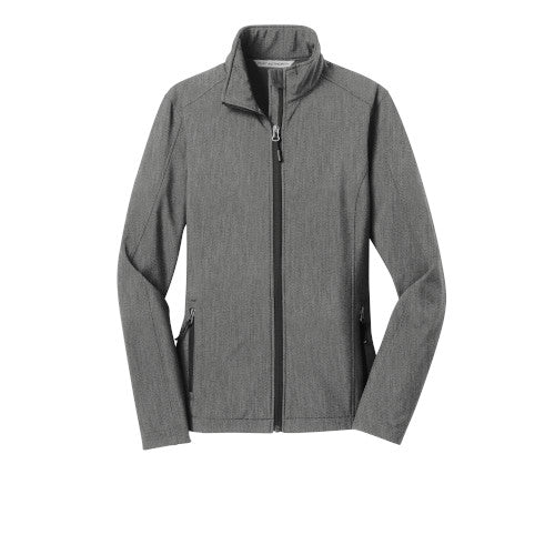 Pearl Grey Heather Custom Ladies Soft Shell Jacket
