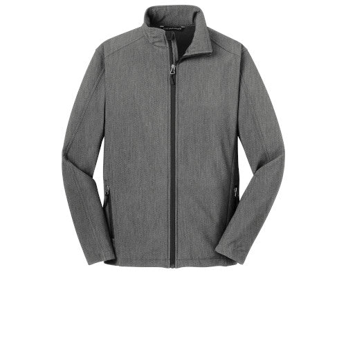 Pearl Grey Heather Custom Men's Soft Shell Jacket