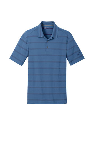 Photo Blue/College Navy Nike Dri-FIT Fade Stripe Polo WIth Logo