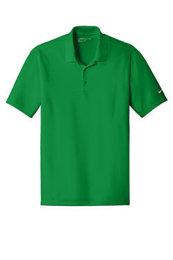 Pine Green  Nike Dri-FIT Players Polo with Flat Knit Collar With Logo