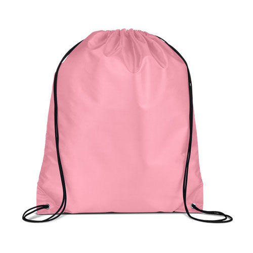 Pink Custom Drawstring Backpack