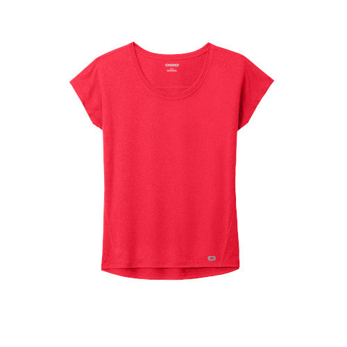 Pink Rouge Custom Ogio Endurance Ladies Pulse Dolman Tee