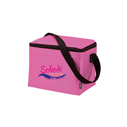 Pink Custom 6 Pack Cooler Bag