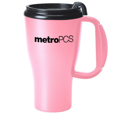 Pink Custom Travel Mug 16oz