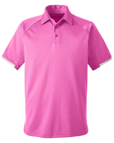 Pink Custom Under Armour Rival Polo